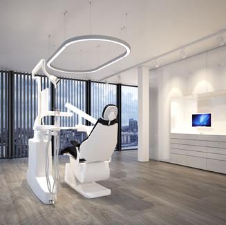 Neuheit! Behandlungsleuchte als O-Form für die Zahnarztpraxis. Serie Matrix Free.