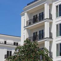 Hochwertige Fassadengestaltung.
