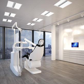 Beleuchtungskonzept mit Pure Elegance im Behandlungsraum.