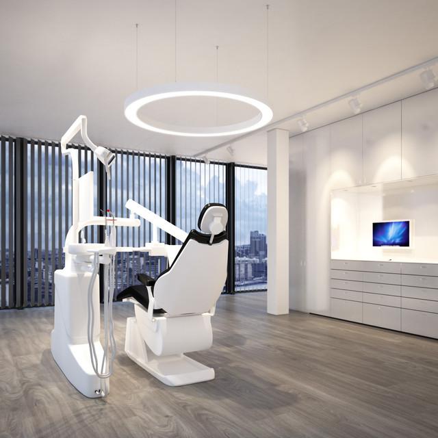 Beleuchtungskonzept für einen Behandlungsraum, Serie Matrix Ring als Pendelvariante
