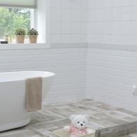 Weißes Bad.
