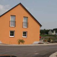 Referenz Fassadenarbeiten Einfamilienhaus.