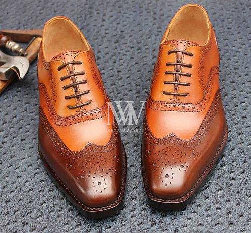 固特異全手工縫製 男鞋 &牛津 布洛克皮底