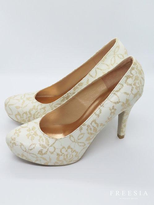 金玫瑰蕾絲&白皮