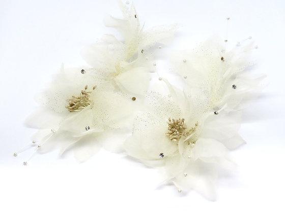 透紗花蕊星空排花