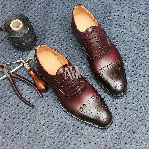 固特異全手工縫製 男鞋 &小牛皮雕花三接頭