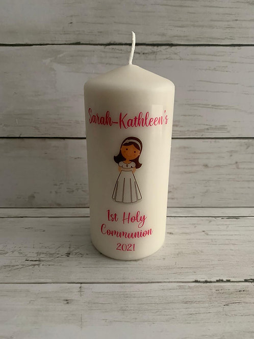 Personalised Communion Candle - Gift wrapped
