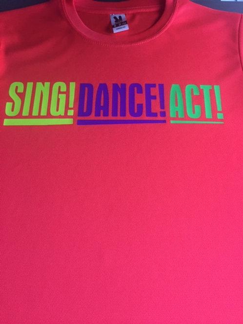 7-8 Pink Sing Dance Act tee