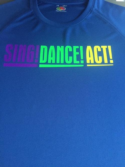 7-8 Blue Sing Dance Act tee