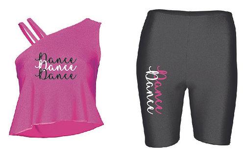 Dance Flow top & Bicycle Short shorts set