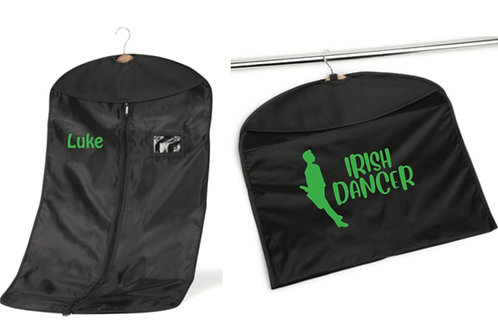 Male Irish dancer personalised costume bag