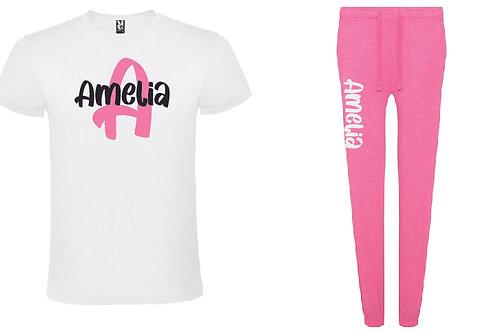Personalised Pink Pyjama Set