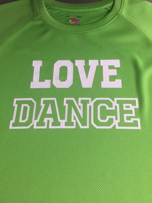 7-8 Green Love Dance tee -white