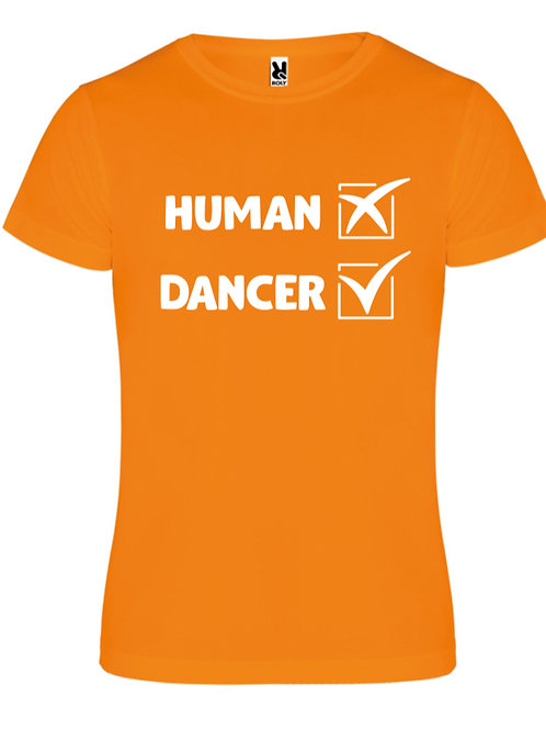 Human Dancer tee - Orange