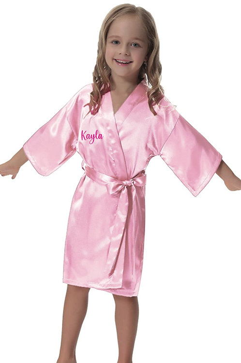 Communion/Confirmation Girl  personalised Satin robe White or pink