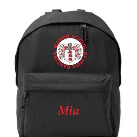 Personalised Backpack -  Mahon School of Irish Dancing