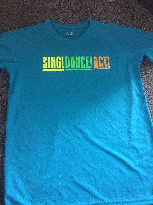 14-15 Turquoise Act,Dance,Sing tee