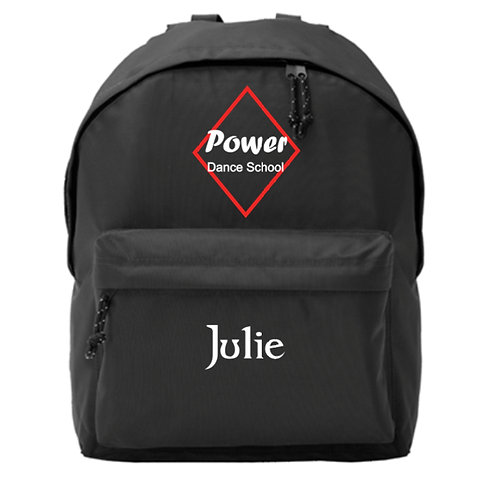 Power Dance Back Pack Personalised