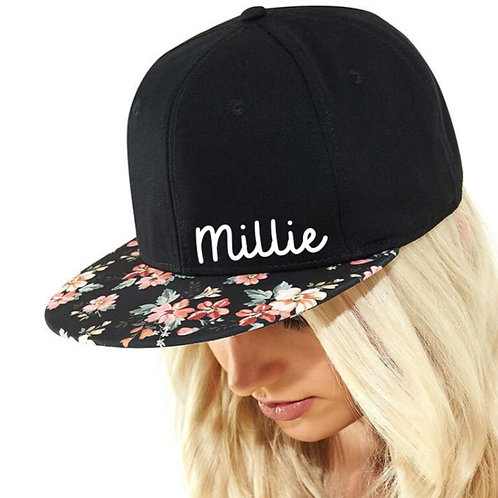 Personalised snap back cap