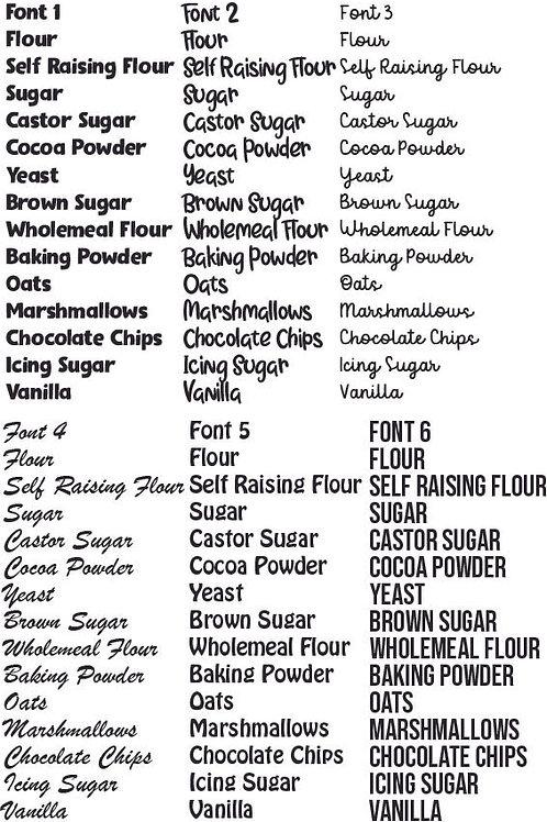 Baking Label Bundle of 6