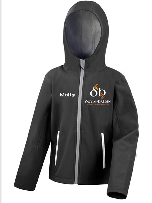 Kids softshell jacket with hood- Doyle Halpin