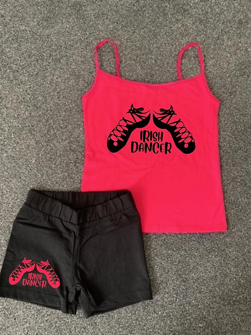 Irish Dancer Vest & short set - Colour choice