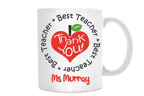 Best Teacher Personalised Treat Mug