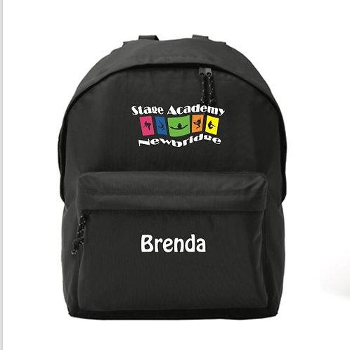 Personalised Back Pack - Stage Academy Newbridge