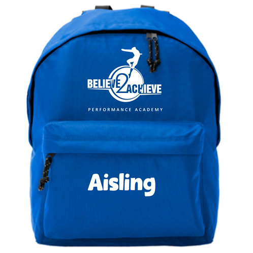 Personalised Backpack - Believe 2 Achieve