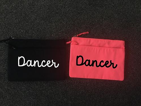 Dancer accessory zip pouch