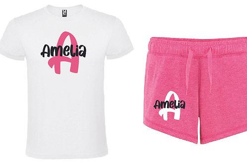 Personalised Pink Pyjama Short Set