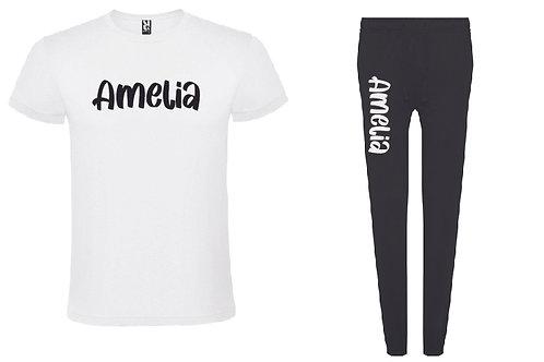 Personalised Black Pyjama Set