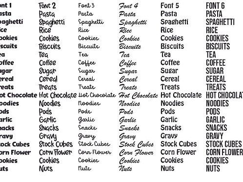 Kitchen Label Bundle of 6