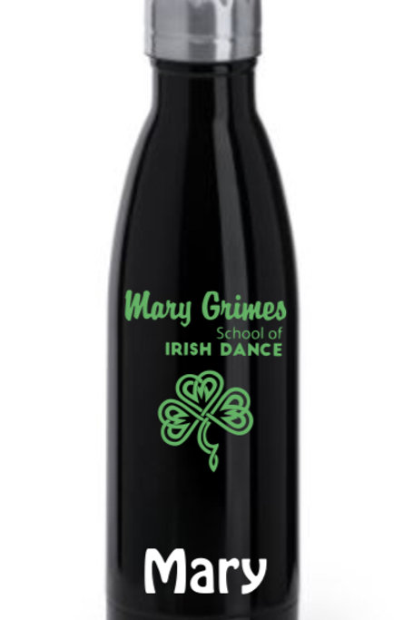 Mary Grimes school of Irish Dance - Personalized 700ml bottle - black