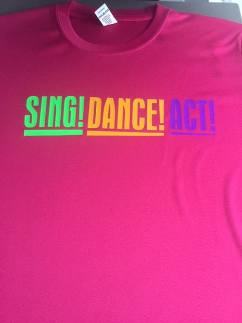 Small Pink Sing Dance Act tee