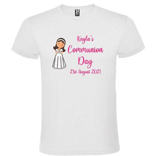 Communion GIRL  personalised t-shirt