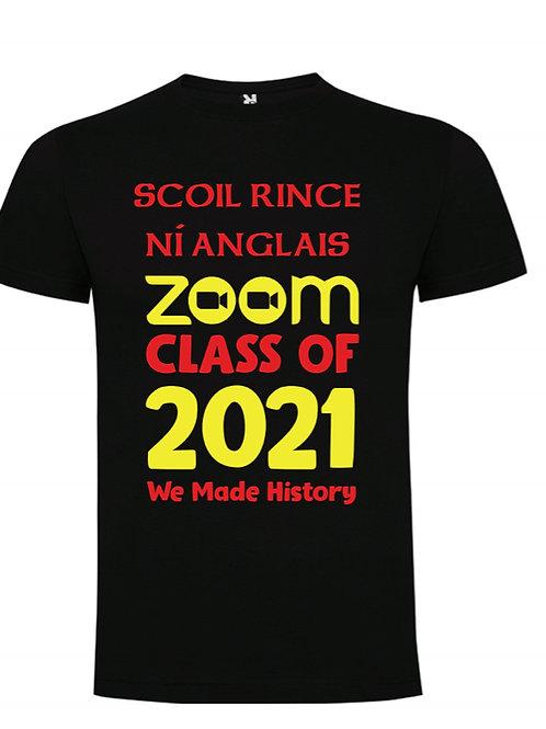 Zoom Class of 2021 T-Shirt - SCOIL RINCE NI ANGLAIS