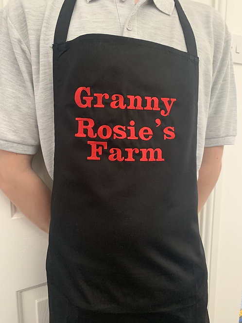 Apron embroidered with any text