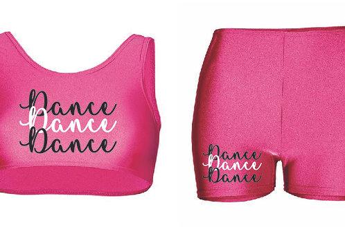 Dance Crop top & Short shorts set