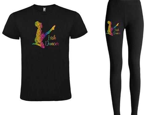 Irish Dancer rainbow tee & leggings lounge set