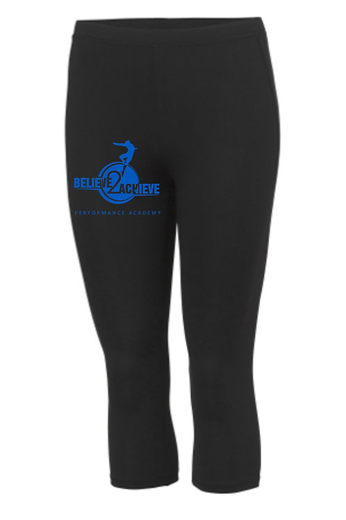 3/4 length sports leggings -Believe 2 Achieve