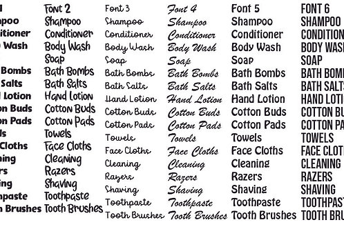 Bathroom Label Bundle of 6