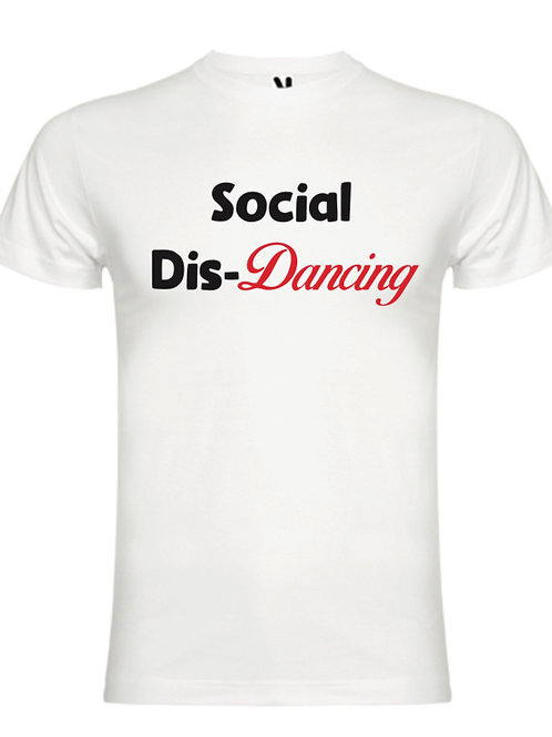 Social Dis-Dancing White tee