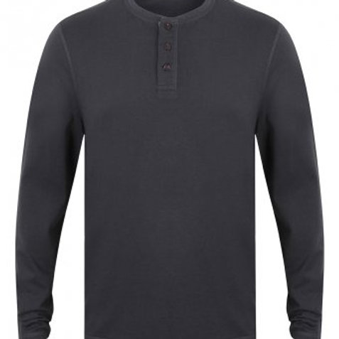 Button Grey Long-sleeved top
