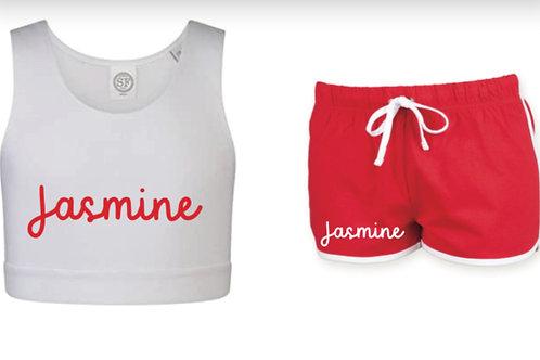 Personalised Crop & Shorts set