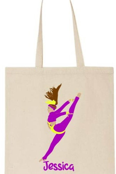 Personalised Freestyle Dancer Tote Bag