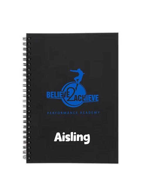 Personalised Notebook -  Believe 2 Achieve