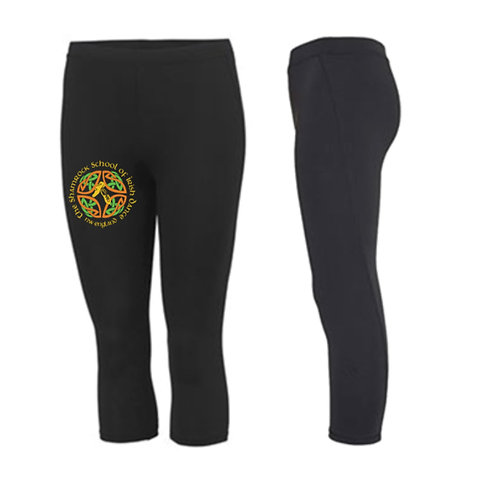 3/4 length sports leggings -  Shamrock School