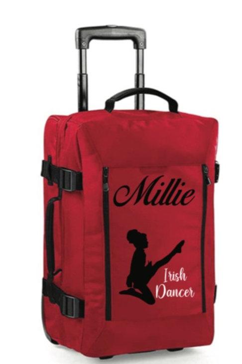 Irish Dancer personalised hand luggage case - Red