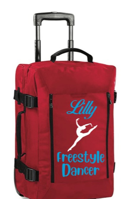 Freestyle Dancer personalised hand luggage case - Red